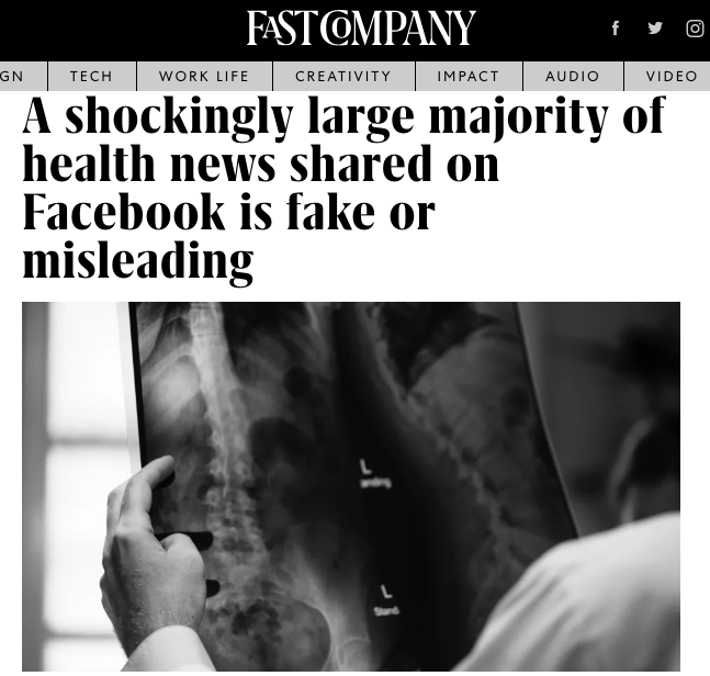 A Shockingly Large Majority Of Health News Shared On