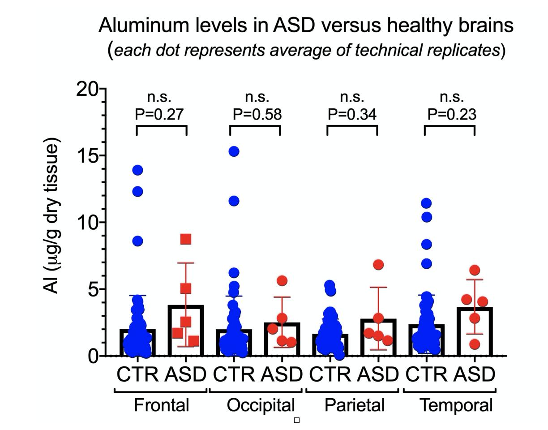 aluminum in brain tissue
